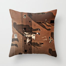 Cairo Ghosts Throw Pillow
