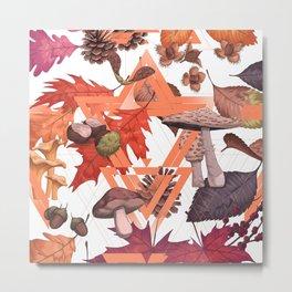 Fall Foliage II Shape Metal Print