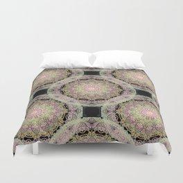 mandala pattern on the dark background Duvet Cover