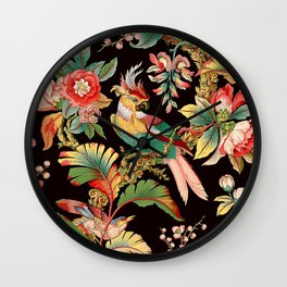 French Wallpaper Wall Clock