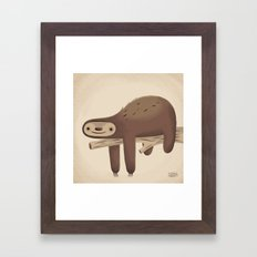 All in Good Time (Sloth) Framed Art Print