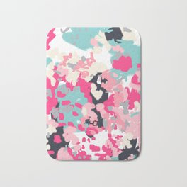 Addison - abstract minimal painting perfect gift valentines day hot pink love Bath Mat