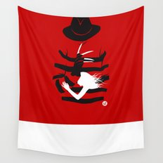 A Nightmare - Red Collection Wall Tapestry