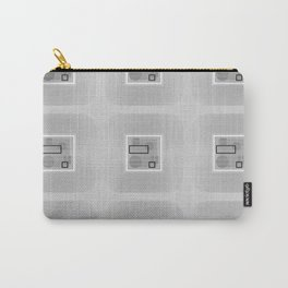 Washed Out Grey Geometry Carry-All Pouch