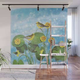 One Morning in the Water Lily Pond Wall Mural