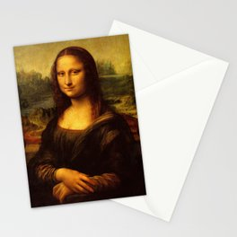 Leonardo Da Vinci Mona Lisa Painting Stationery Cards