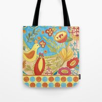 glee Tote Bags featuring Glee - It's a Beautiful Day by TerriConradDesigns