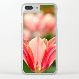SPRING PINK AND RED TULIP Clear iPhone Case