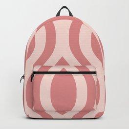 Pretty Ogee Pattern 431 Dusty Rose Backpack