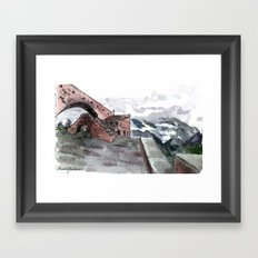 sky bridge Framed Art Print