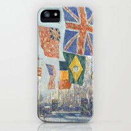 Avenue of the Allies, Great Britain, 1918 by Childe Hassam iPhone Case