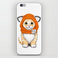 kitten in fox cap iPhone & iPod Skin
