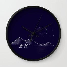 Desert Travels Wall Clock