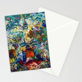 Coney Island, American Dreamland New York City Amusement Park by Joseph Stella Stationery Cards