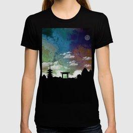 Kyoto Japan Skyline Cityscape T-shirt