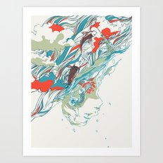 Colours In The Sky Art Print
