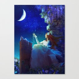 Conversation With The Moon Canvas Print
