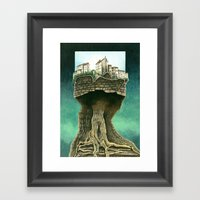 City on a tree Framed Art Print