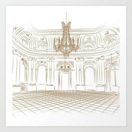 Royal Ballroom Art Print