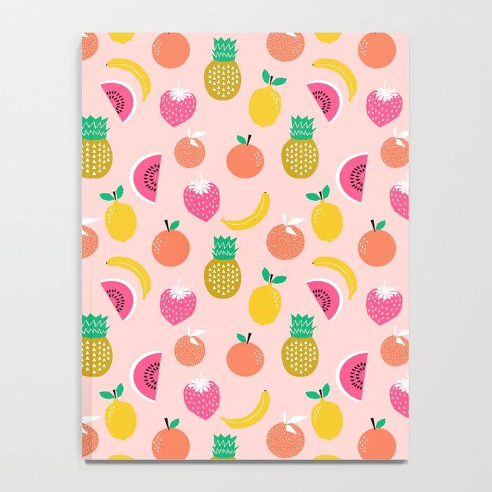 Fruit summer spring pattern print tropical island pineapple cherry strawberry banana fresh hot  Notebook