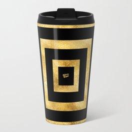 ART DECO SQUARES BLACK AND GOLD #minimal #art #design #kirovair #buyart #decor #home Travel Mug