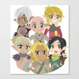 Dragon Age Elves Canvas Print
