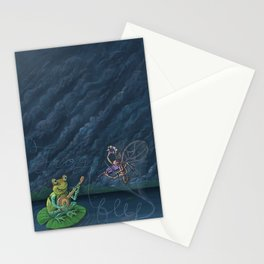 Frog & Fly: By Bradley Rabkin Golden Stationery Cards