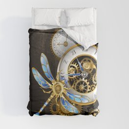 Dials with Dragonfly ( Steampunk ) Comforters