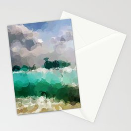Blue Skies and Beach Geometrical Abstract Stationery Cards