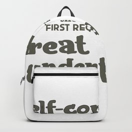 Self Confidence Backpack