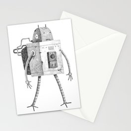 Hardworking Bot Stationery Cards