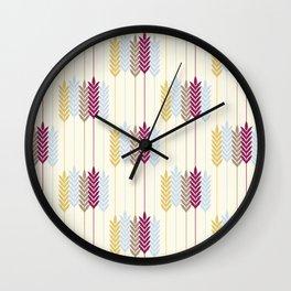 Harvest Wheat Wall Clock