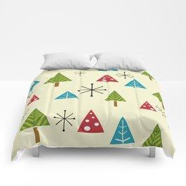 Mid Century Modern Christmas Trees Comforters