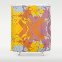 maps Shower Curtains featuring Forest Maps 3 by Jessie Prints Stuff