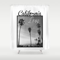 wiz khalifa Shower Curtains featuring California Love  by Gold Blood