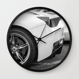 Sports Car Wheels Wall Clock