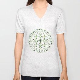 Mandala Green Unisex V-Neck