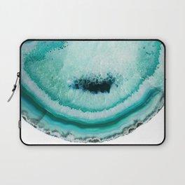 turquoise agate slice Laptop Sleeve