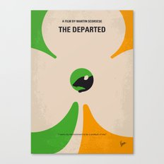No506 My The Departed minimal movie poster Canvas Print
