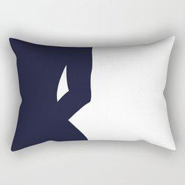Nude silhouette figure - Nude blue 001 Rectangular Pillow