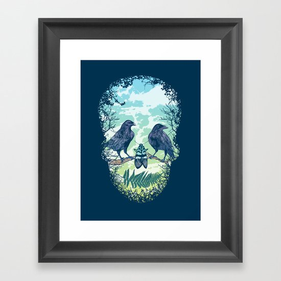 Nature's Skull Framed Art Print