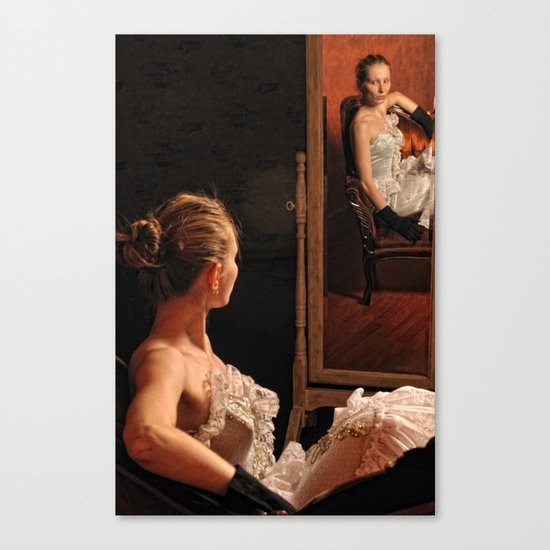 Victoria and the mirror Canvas Print