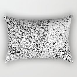 Black & White Triangles Rectangular Pillow
