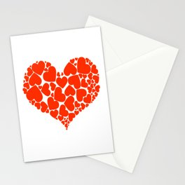 A Heart Full Of Love Red Valentine Hearts Within A Heart Stationery Cards
