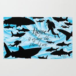 Home is where the sharks are! Rug