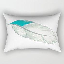 emerald bird feather Rectangular Pillow