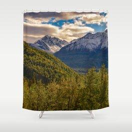 Termination Dust - Glenn Highway, Alaska Shower Curtain
