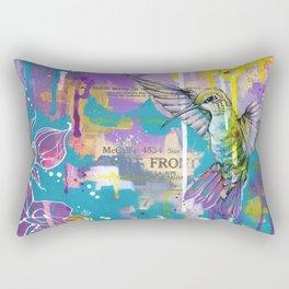 A Hummingbirds Folly Rectangular Pillow