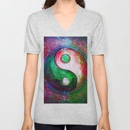 Yin Yang - Colorful Painting VII Unisex V-Neck