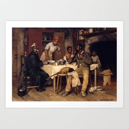 African American Masterpiece 'A Pastoral Visit' by Richard Norris Brooke Art Print